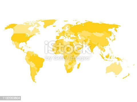 istock World map with names of sovereign countries and larger dependent territories 1132053804