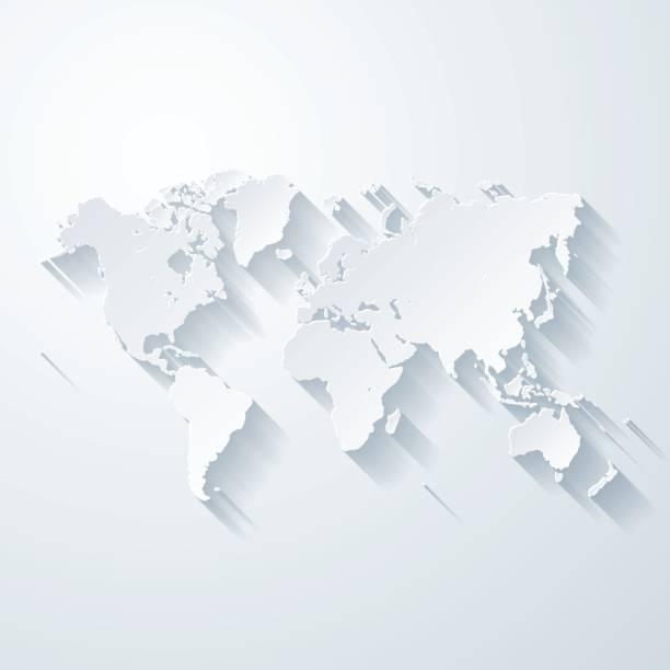 World map white stock photos