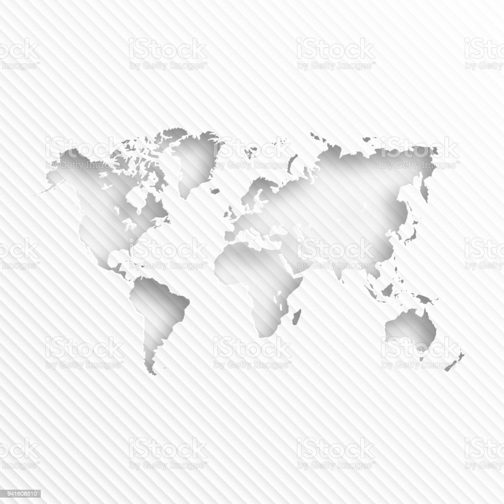 World map with paper cut on abstract white background stock vector world map with paper cut on abstract white background royalty free world map with paper gumiabroncs Gallery