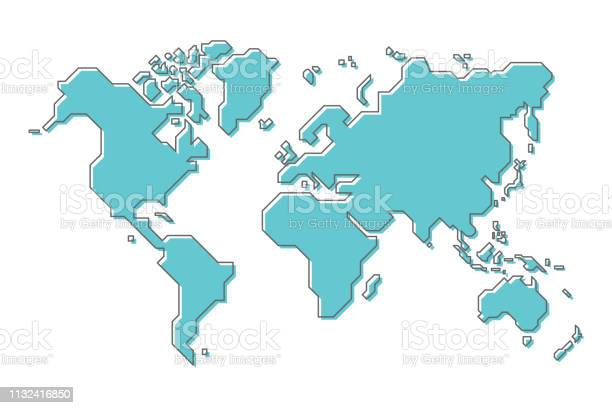 World map with simple modern cartoon line art design vector id1132416850?b=1&k=6&m=1132416850&s=612x612&h=ofglupvxoo9sysllpgjbftvoxbwlvojoh eh fi xsm=