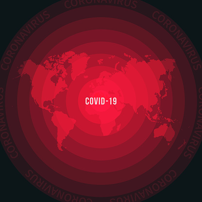World map with the spread of COVID-19. Coronavirus outbreak