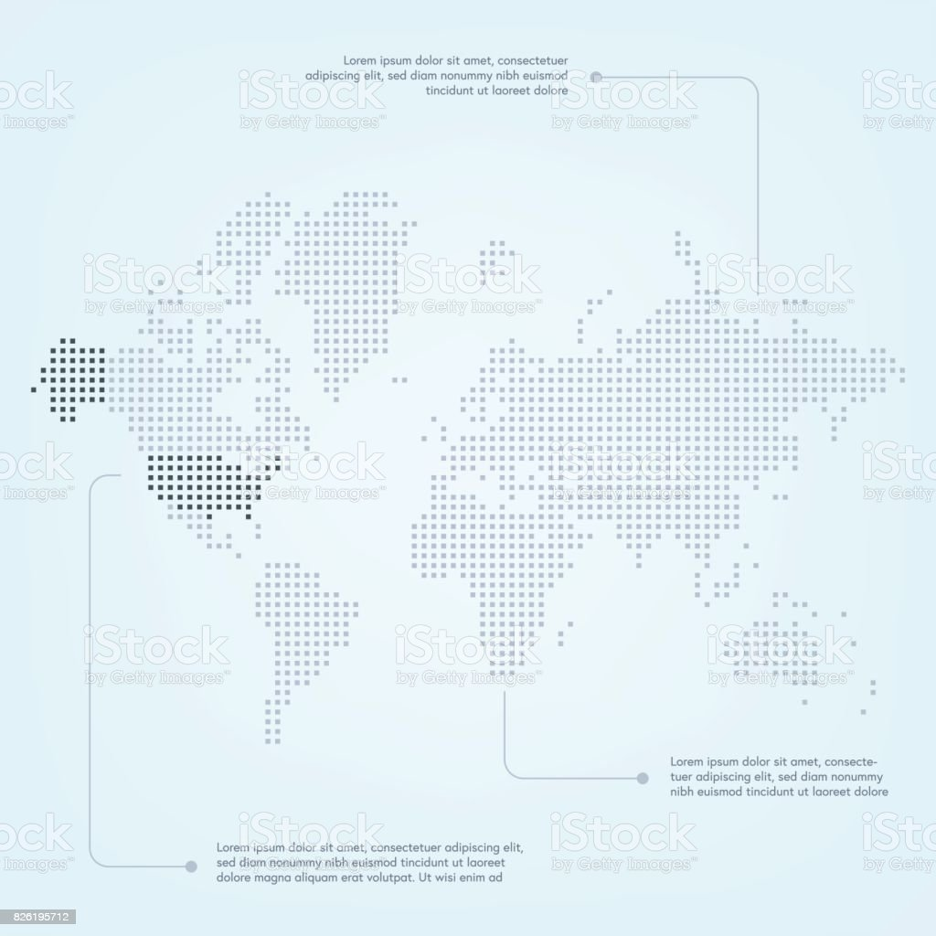 World map with the united states of america highlighted stock vector world map with the united states of america highlighted royalty free world map with the gumiabroncs Choice Image