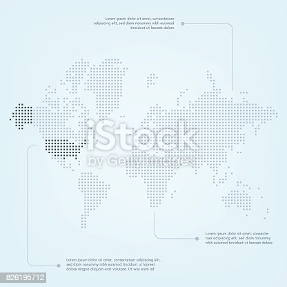 World map with the united states of america highlighted stock world map with the united states of america highlighted stock vector art 826195712 istock gumiabroncs Images