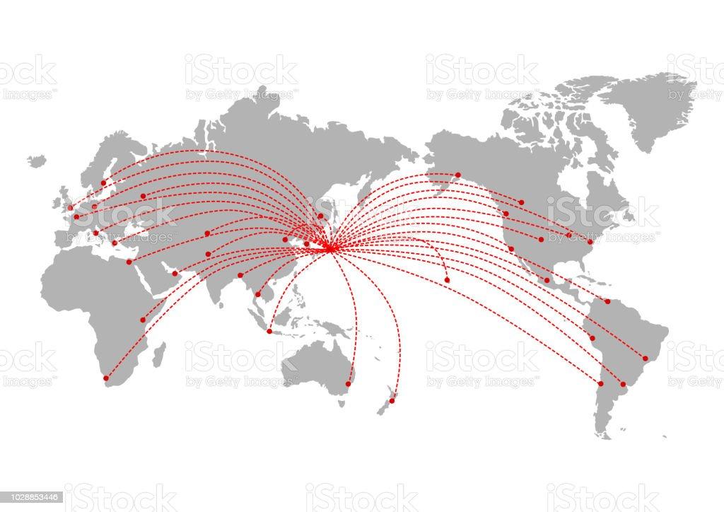 世界地図: 世界 ベクターアートイラスト