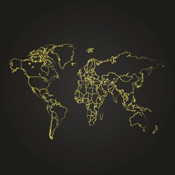 Royalty free light streak world map clip art vector images light streak world map clip art vector images illustrations sciox Image collections