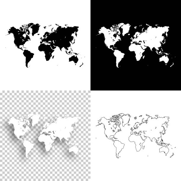 Royalty free asia map black and white clip art clip art vector world maps for design blank white and black backgrounds vector art illustration gumiabroncs Gallery