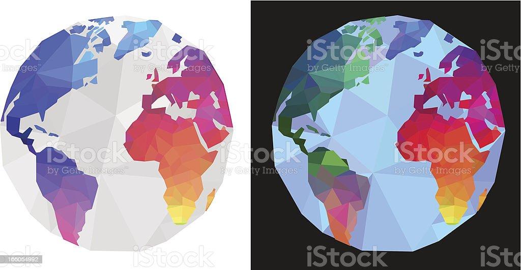 World maps royalty-free stock vector art