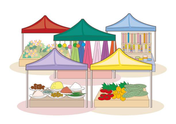 marktplatz der welt - basar-bild - stoffmarkt stock-grafiken, -clipart, -cartoons und -symbole