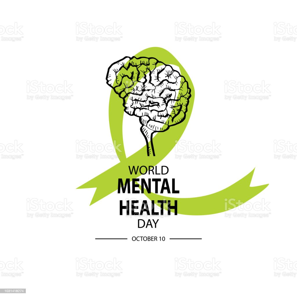 World Mental Health Day Poster Royalty Free Stock Vector