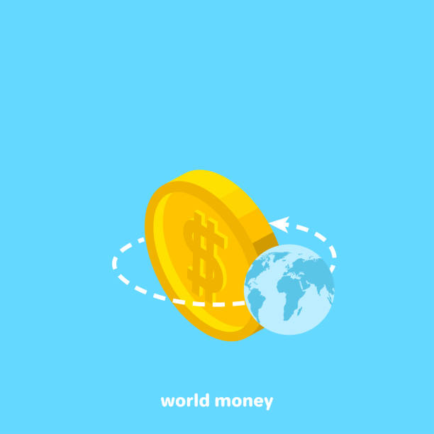 Royalty Free World Currency Symbols Moving Around 3d Golden World
