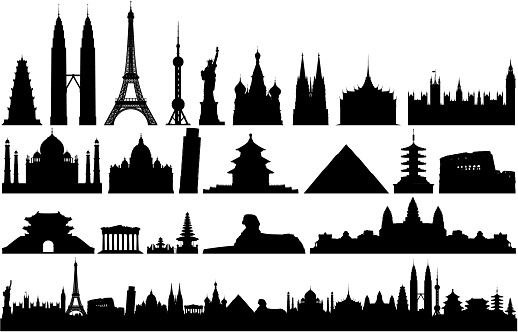 World Monuments and Skyline (All Buildings Are Complete, Detailed and Moveable)