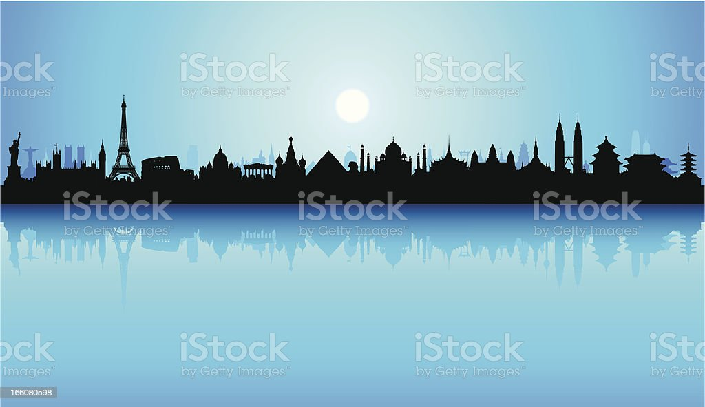 World Monuments (Buildings Are Detailed, Moveable and Complete) royalty-free world monuments stock vector art & more images of architecture