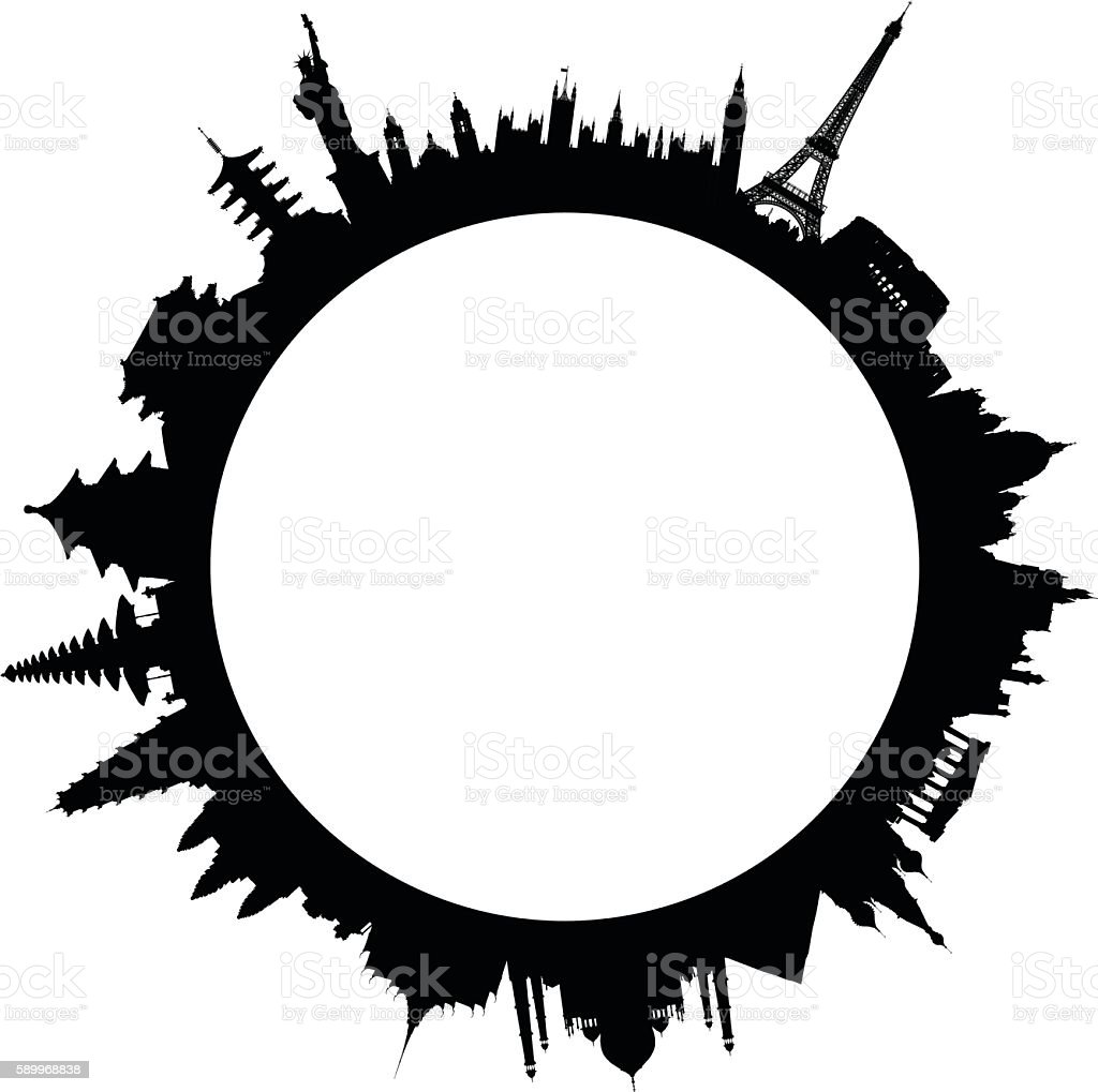 World monuments stock vector art more images of for Monumental buildings around the world