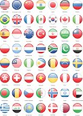 Collection of Most Popular World Flags: