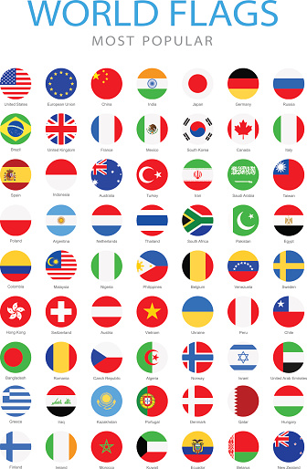 Collection of Most Popular World Flags