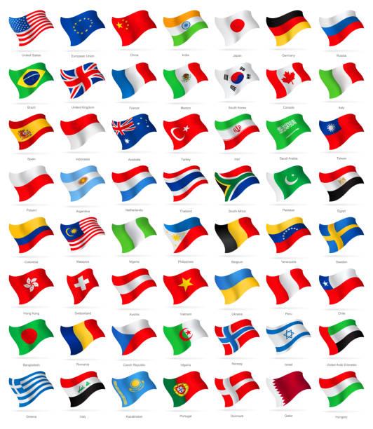 世界で最も人気のある手を振るのフラッグ-イラストレーション - ユニオンジャックの国旗点のイラスト素材/クリップアート素材/マンガ素材/アイコン素材