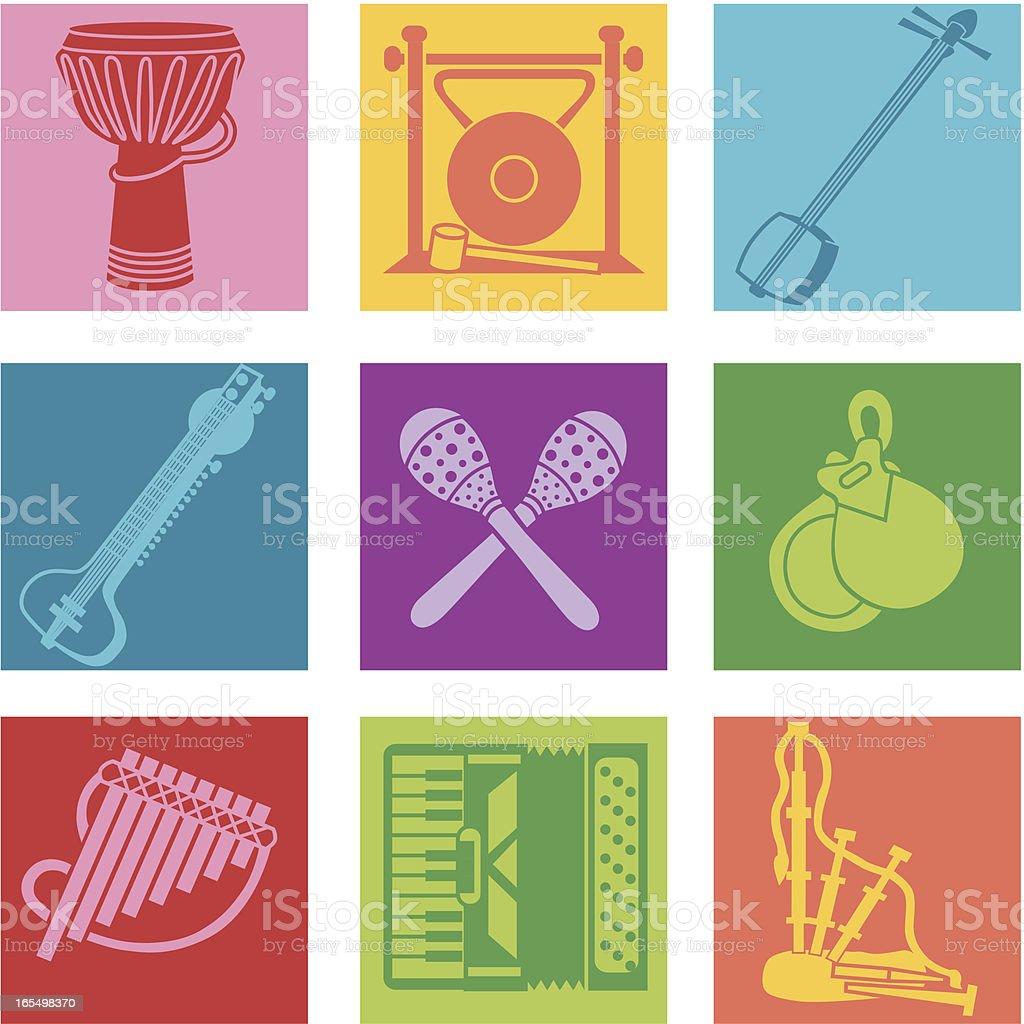 world music royalty-free stock vector art