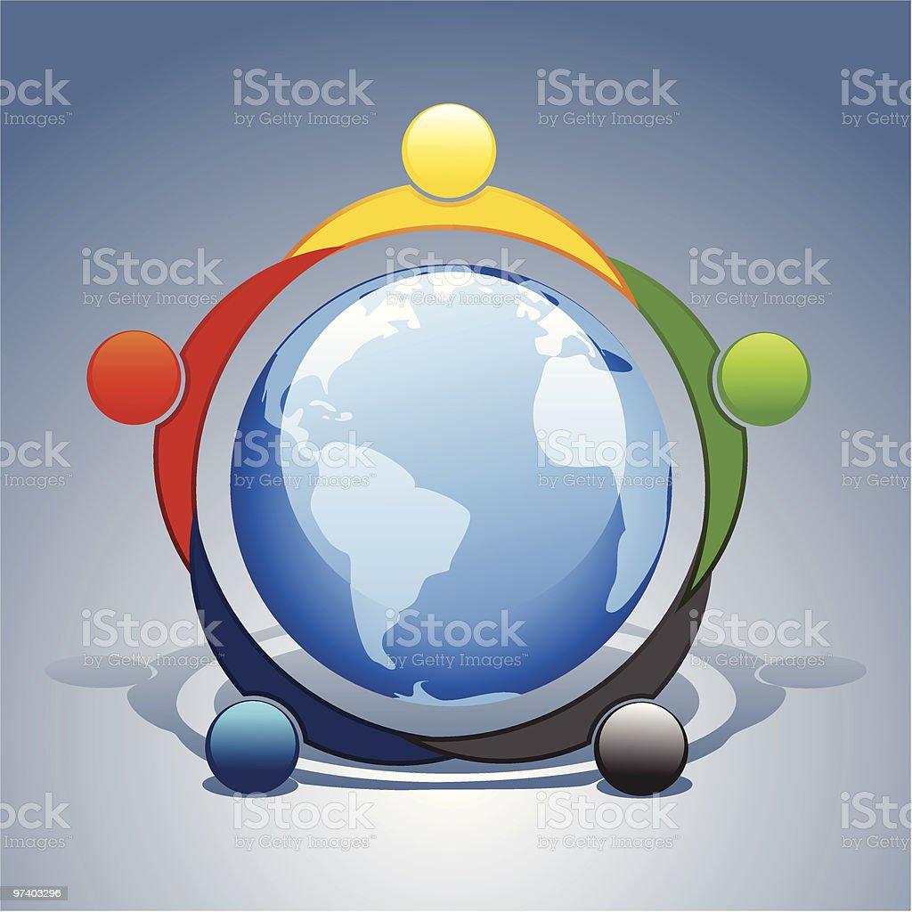 World nations royalty-free stock vector art