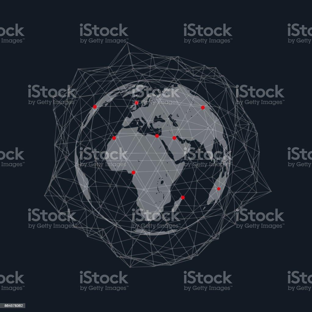 Ilustración De Ilustración De Vector De Conexión Mundial Red