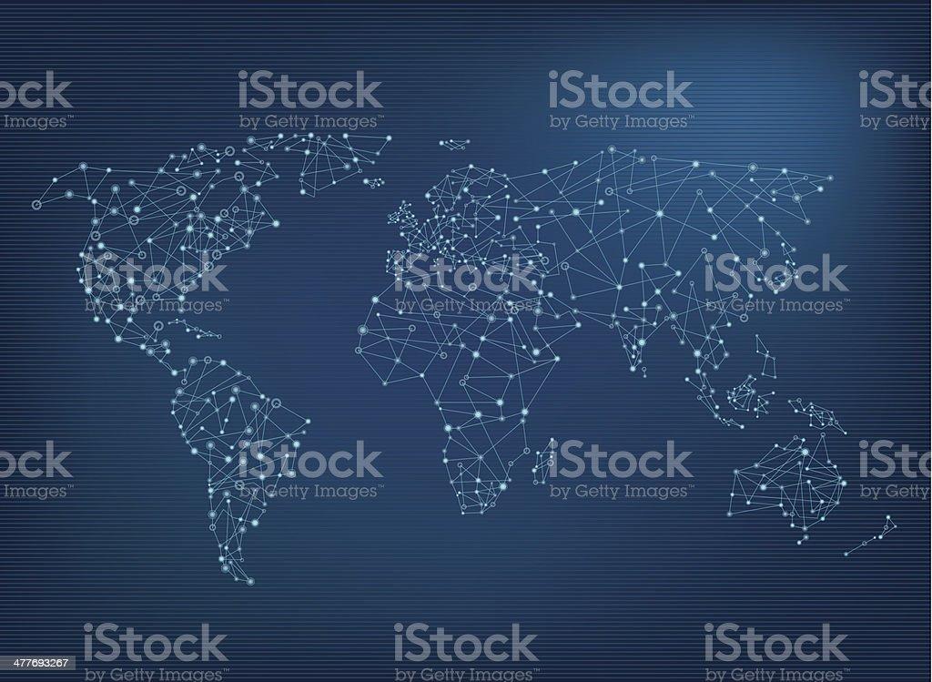 World network map vector art illustration
