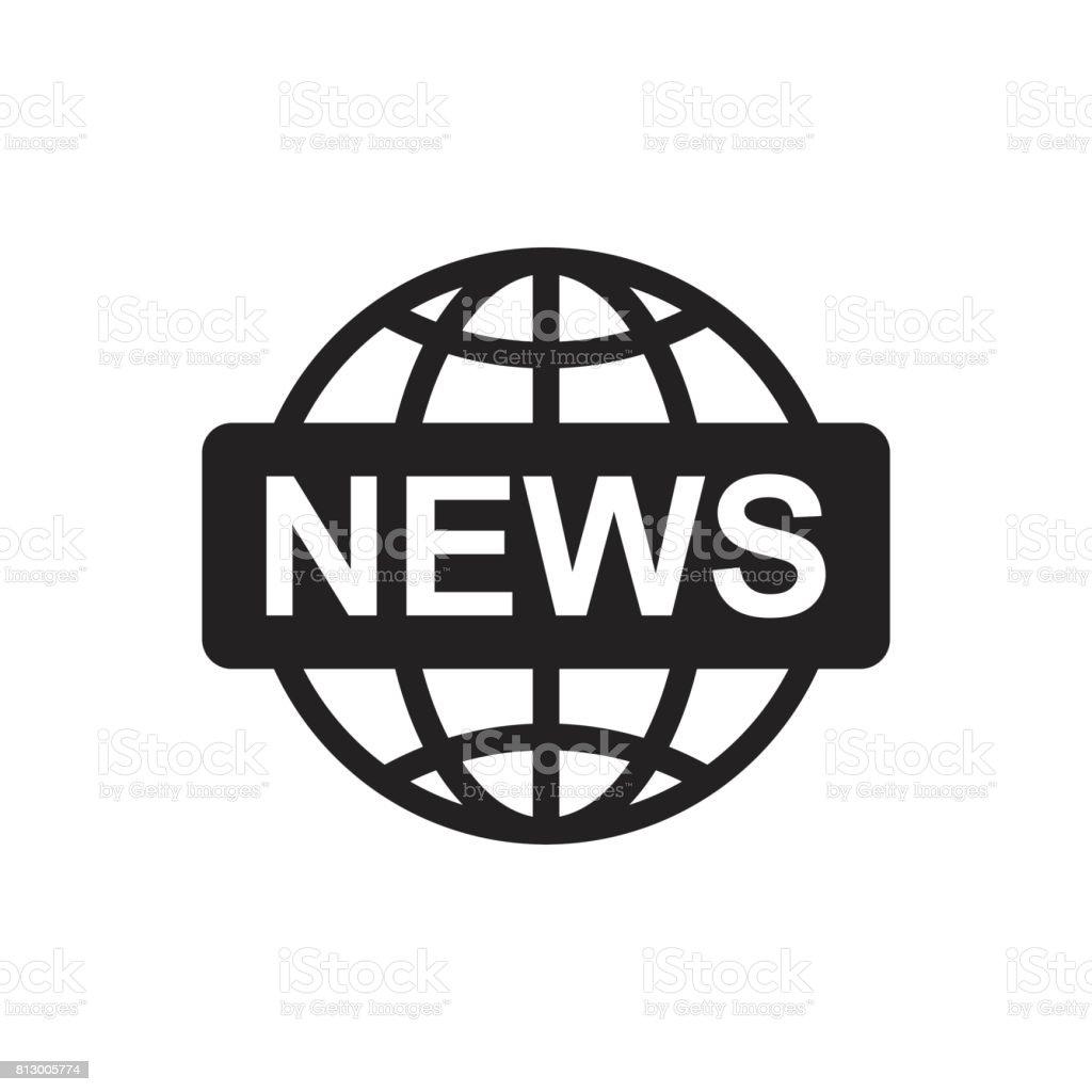 Welt Nachrichten Flache Vektor Icon Nachrichtensymboldarstellung ...