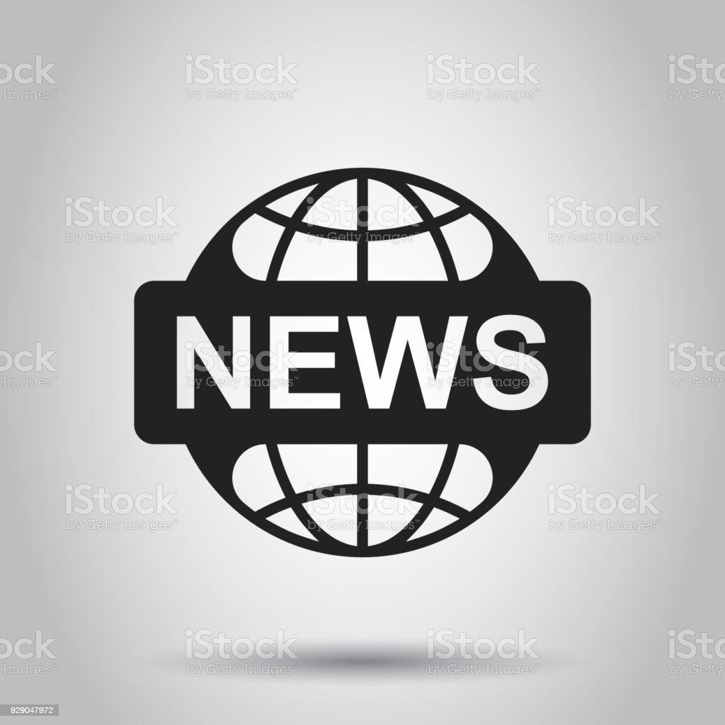 Welt Nachrichten Flache Vektor Icon Aktuelles Symbol Logo Abbildung ...