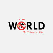 World No Tobacco Day calligraphy background design.World No Smoking Day typographical design elements.May 31st World no tobacco day.No Smoking Day Awareness Idea Campaign for greeting Card,Poster,Brochure.Vector illustration.