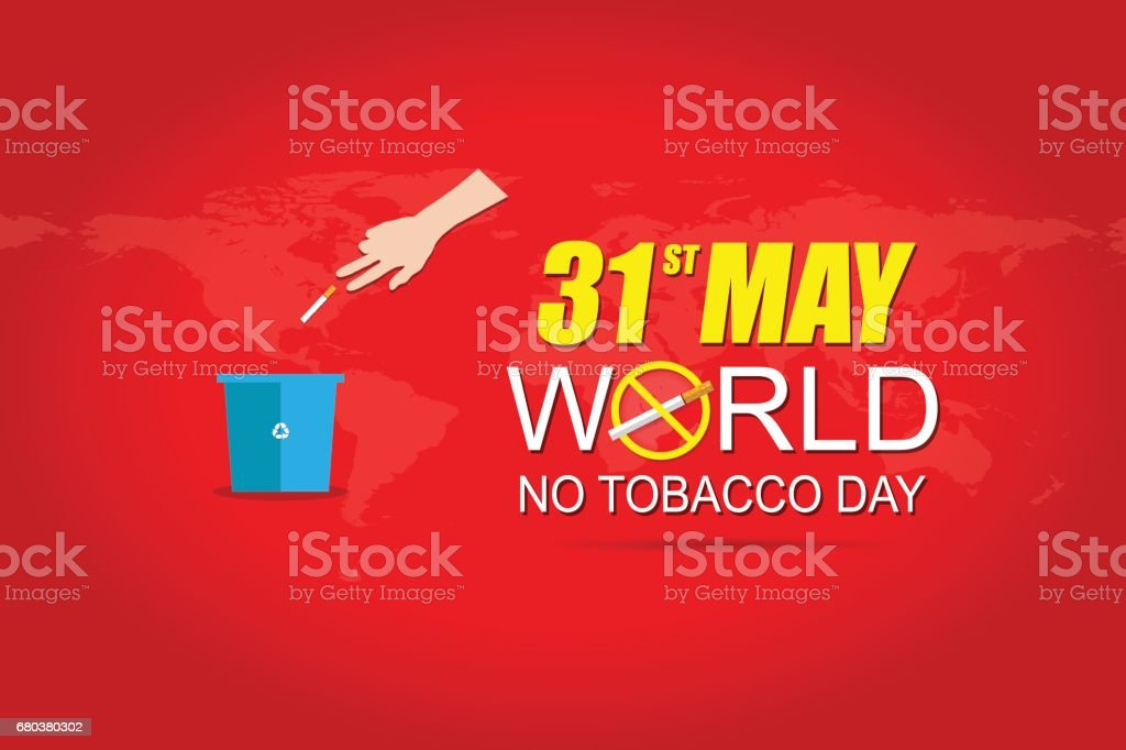 World No tobacco day May 31 royalty-free world no tobacco day may 31 stock vector art & more images of backgrounds