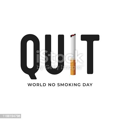 World No Tobacco Day. No Smoking Day isolated on white background.