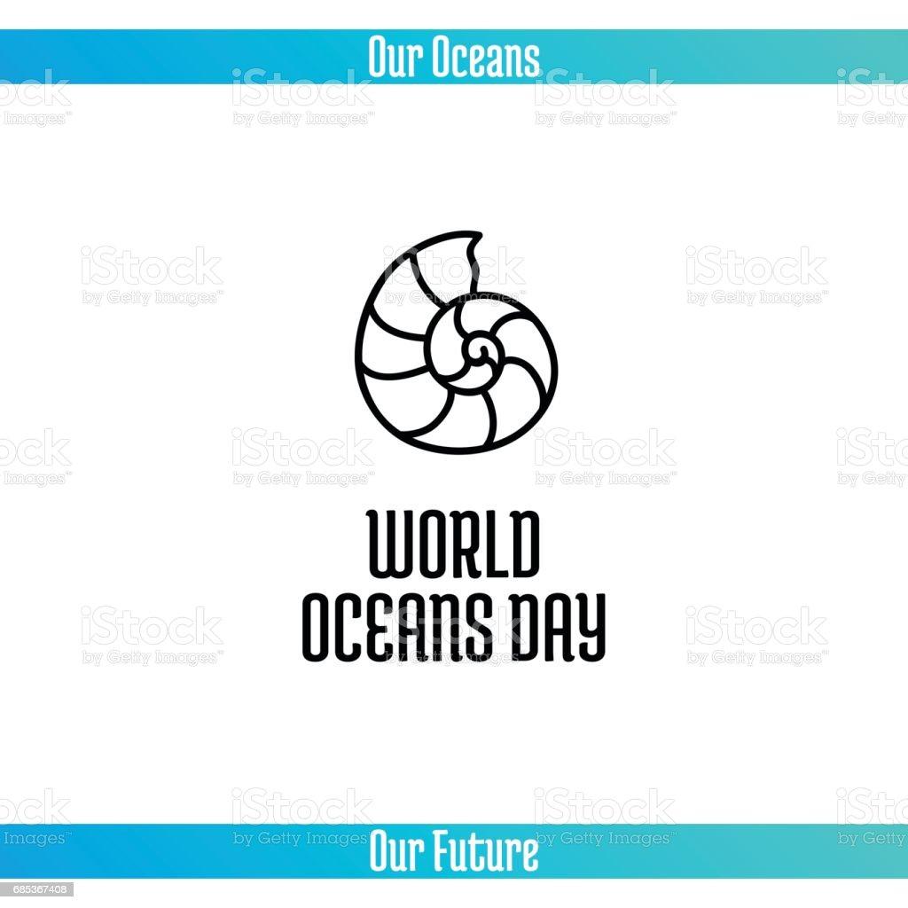 World Oceans Day world oceans day - arte vetorial de stock e mais imagens de 2017 royalty-free