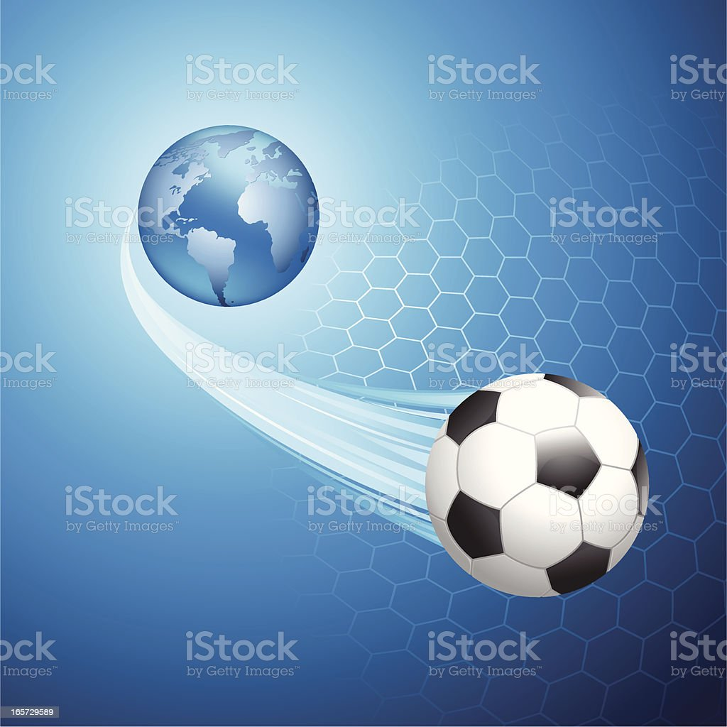 World Of Football vector art illustration