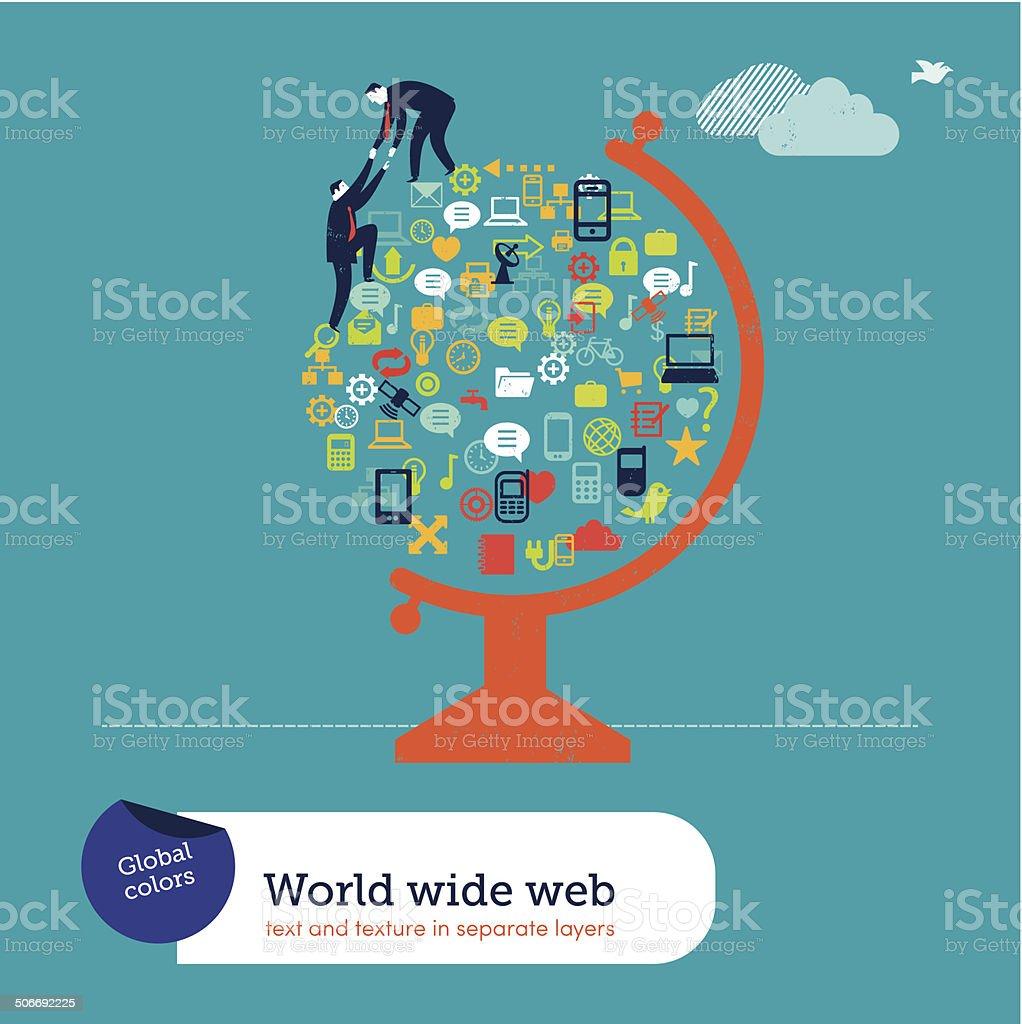 World of Icons vector art illustration