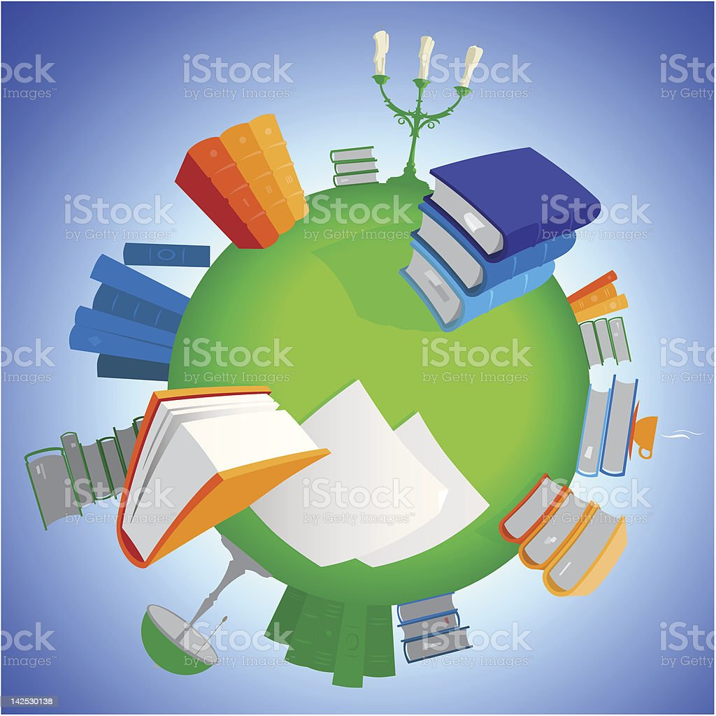 World of knowledge royalty-free stock vector art