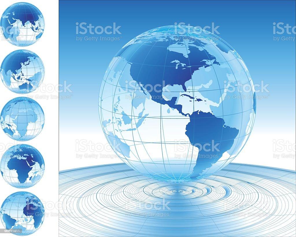 Welt auf dem Wasser - Lizenzfrei Auf dem Wasser treiben Vektorgrafik