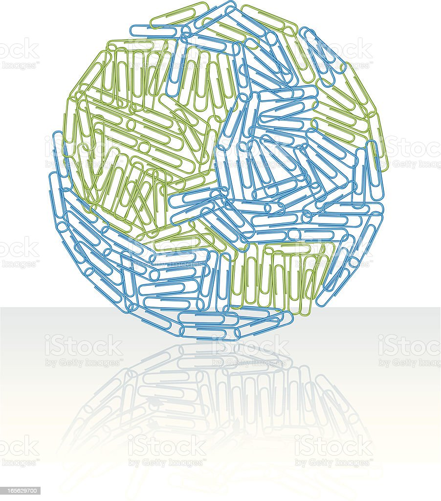 World or Earth, Made of Paperclips royalty-free world or earth made of paperclips stock vector art & more images of business