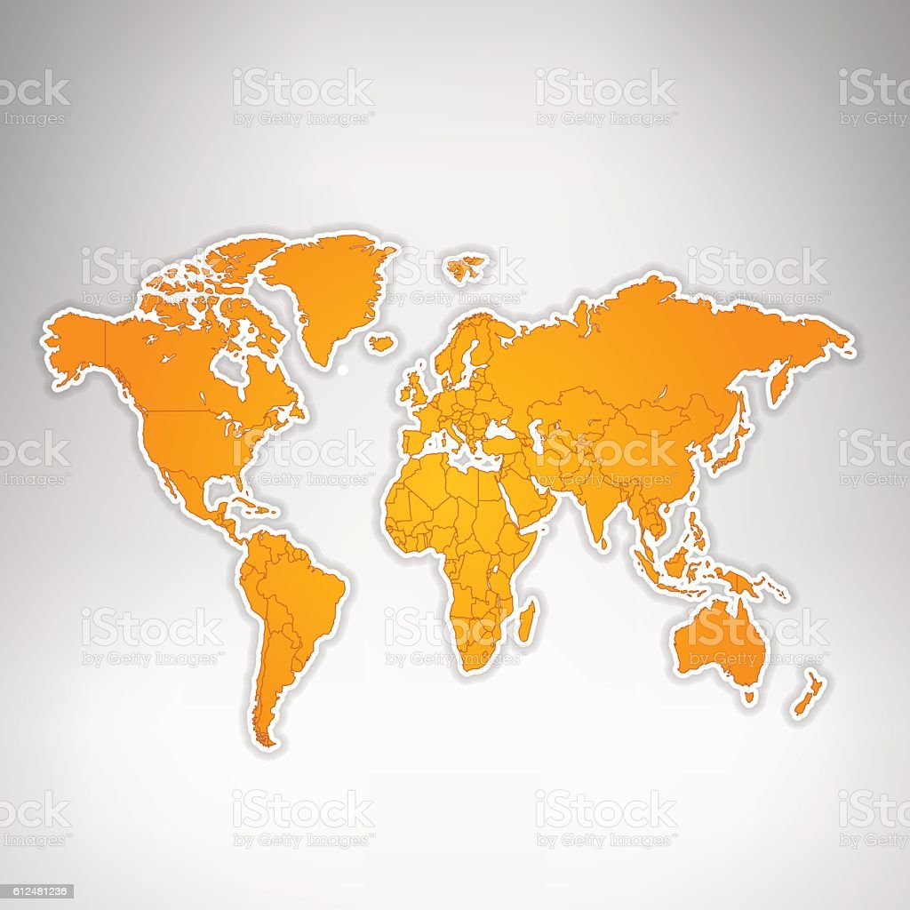 World orange map glowing on grey background stock vector art more world orange map glowing on grey background royalty free world orange map glowing on grey gumiabroncs Image collections