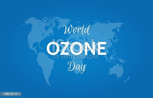 World ozone layer day. 16 September. Vector banner illustration