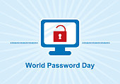 Secure computer vector illustration. Computer graphic icon. Important day
