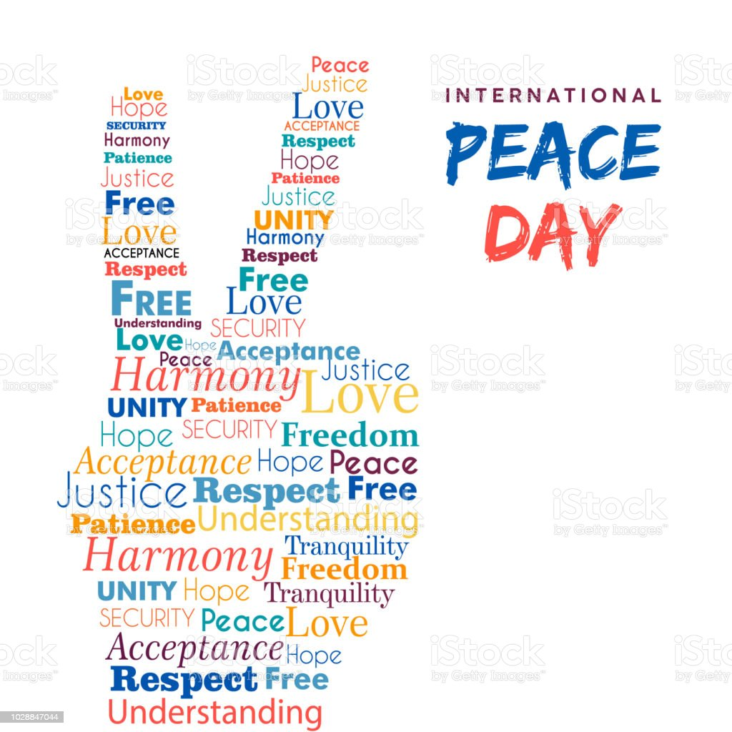 World Peace Day Design Of Hand Sign For Freedom Stock Illustration -  Download Image Now