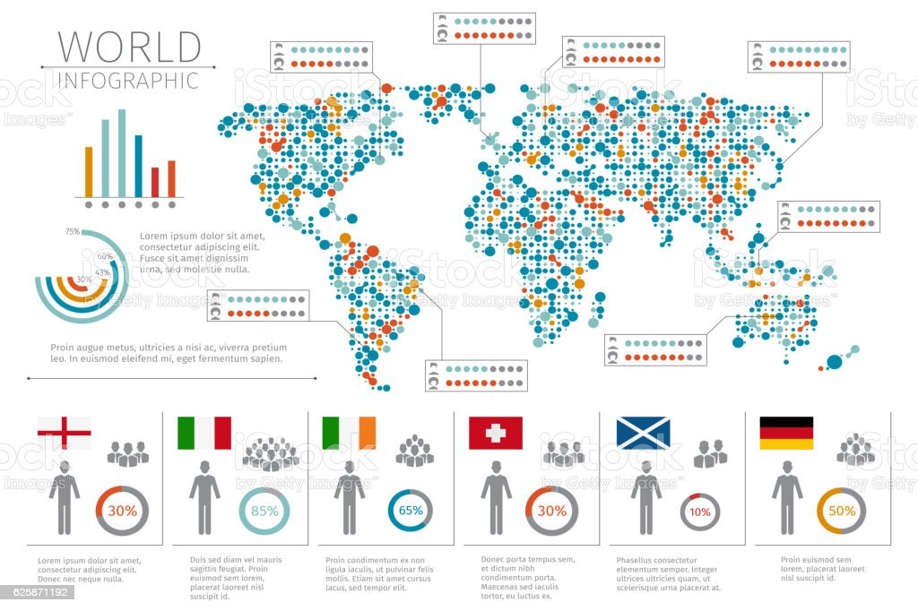 world people infographics human infographic on map vector illustration royalty free world people infographics