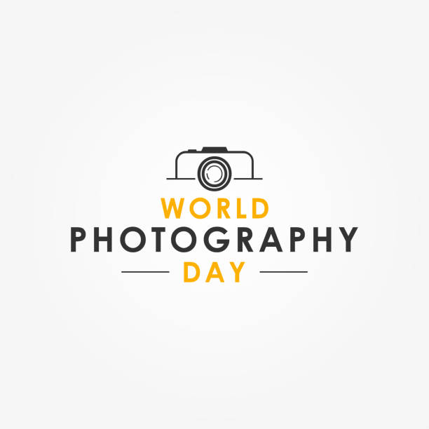 World Photography Day Vector Design Template vector art illustration