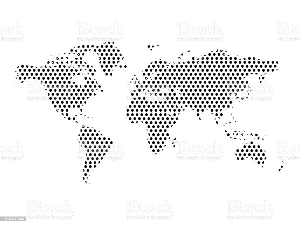 Map 347.World Pixel Map Stock Illustration Download Image Now Istock