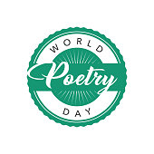 World Poetry Day Label