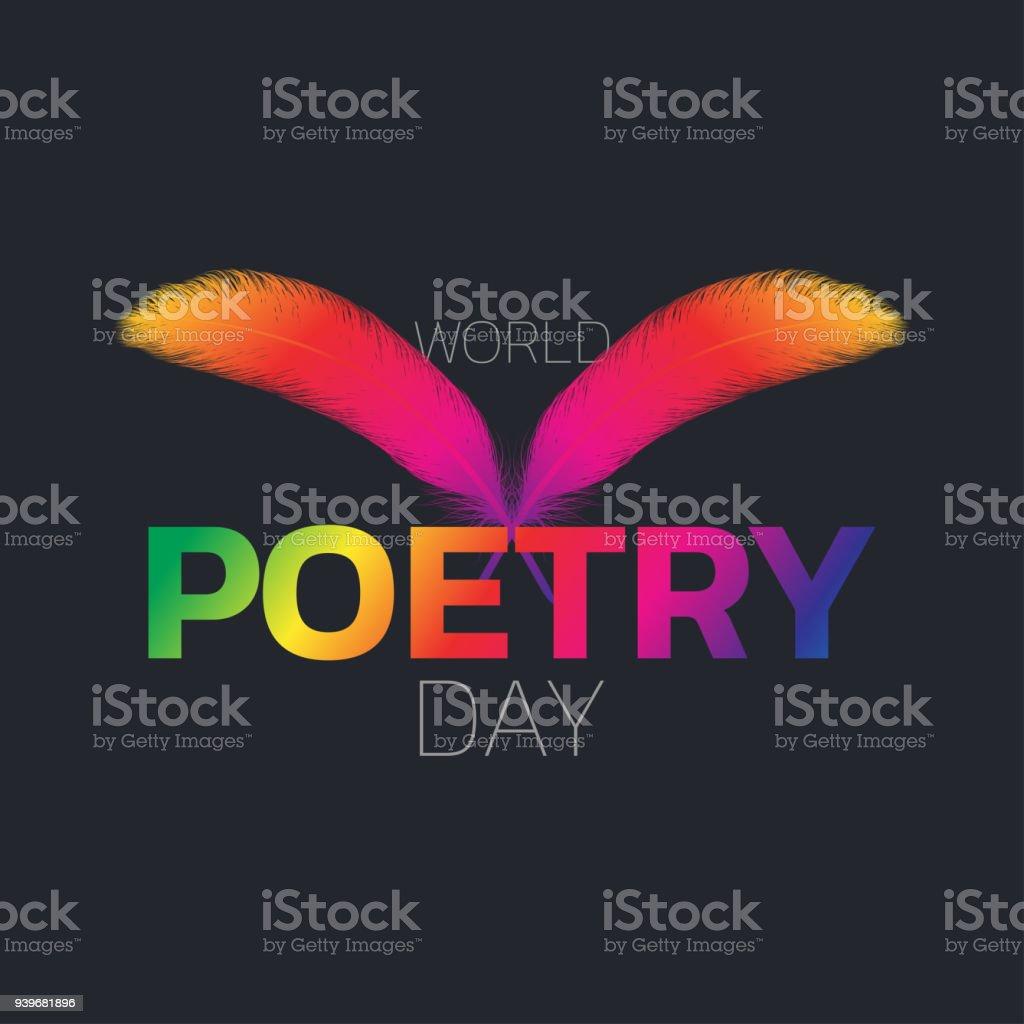 World Poetry Day logo icon design, vector illustration vector art illustration