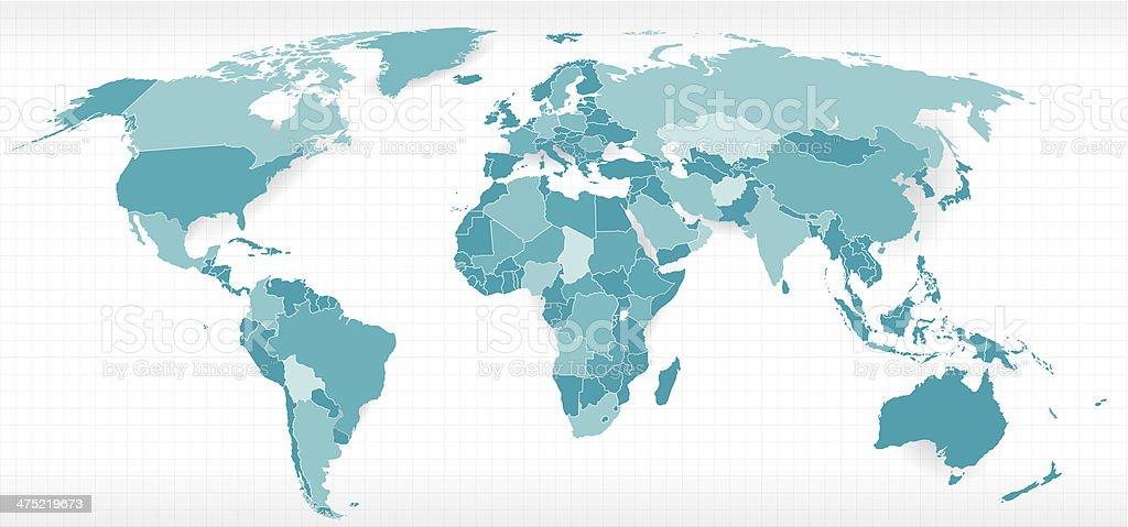 世界の政治地図 ベクターアートイラスト