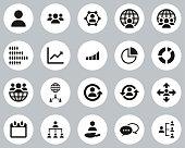 istock World Population Icons Black & White Flat Design Circle Set Big 1279758933