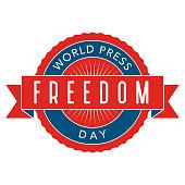 World Press Freedom Day Label