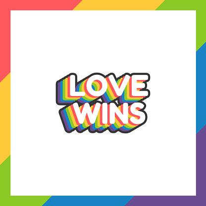 World pride day sticker LGBT