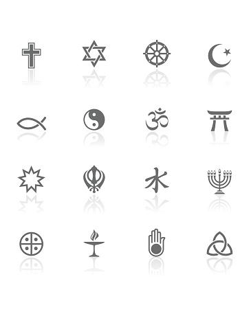 World Religions   BW Icons