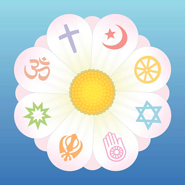 world religions flower symbols - religious symbols stock illustrations, clip art, cartoons, & icons
